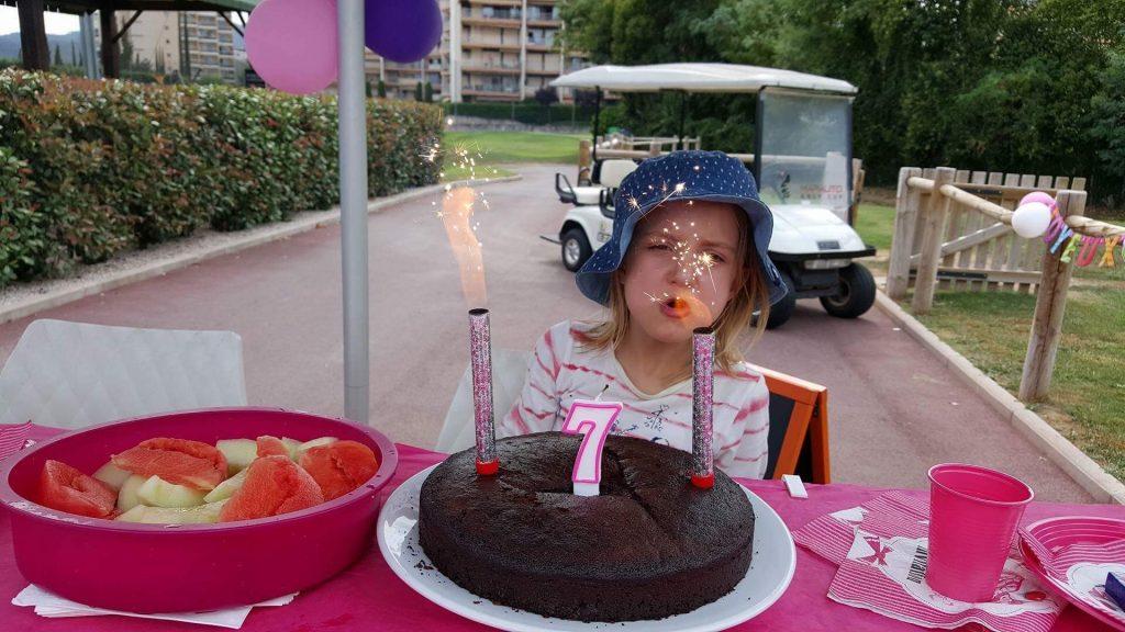 anniversaire enfant golf gateau